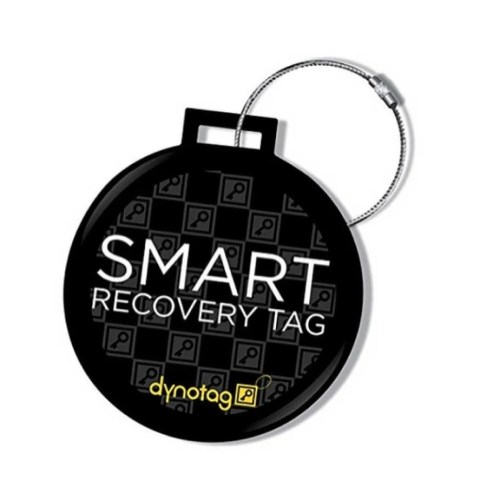 Dynotag GPS Enabled QR Smart Deluxe Steel Luggage Tag