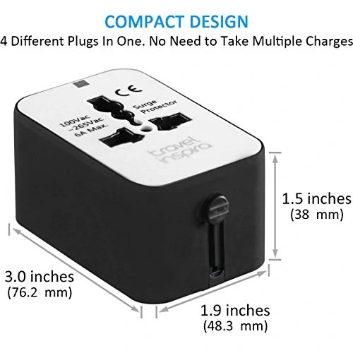 Travel Inspira Universal All in One Worldwide Travel Power Plug