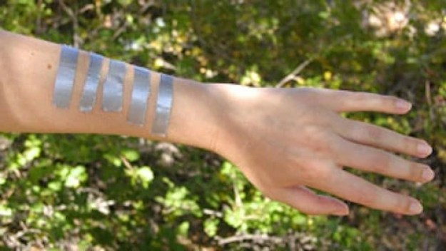Use duct tape to close a wound.