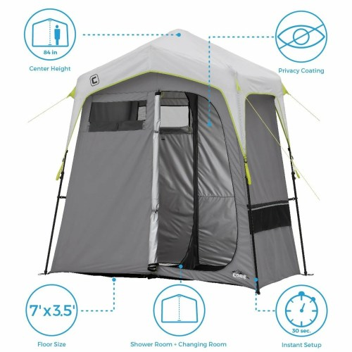 CORE Instant Shower Tent with Changing Room
