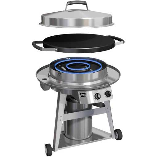 Evo Professional 30-Inch Wheeled Cart Flat-Top Grill