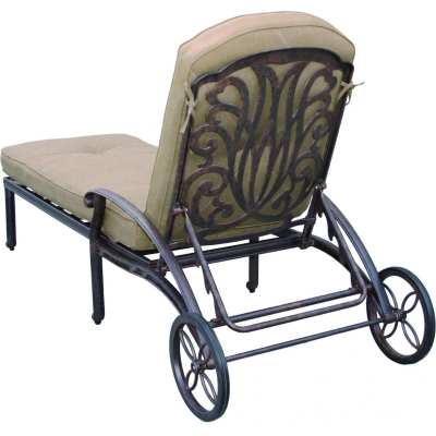 Darlee Elisabeth Cast Aluminum Patio Chaise Lounge