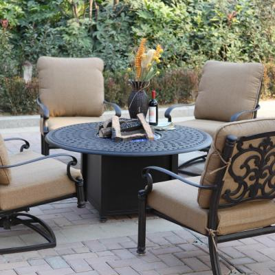 Darlee Santa Barbara 5 Piece Fire Pit Patio Seating Set