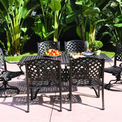 Darlee Nassau 7 Piece Cast Aluminum Patio Dining Set