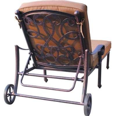 Darlee Santa Monica Cast Aluminum Patio Chaise Lounge