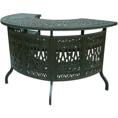 Darlee Elisabeth Cast Aluminum Patio Party Bar