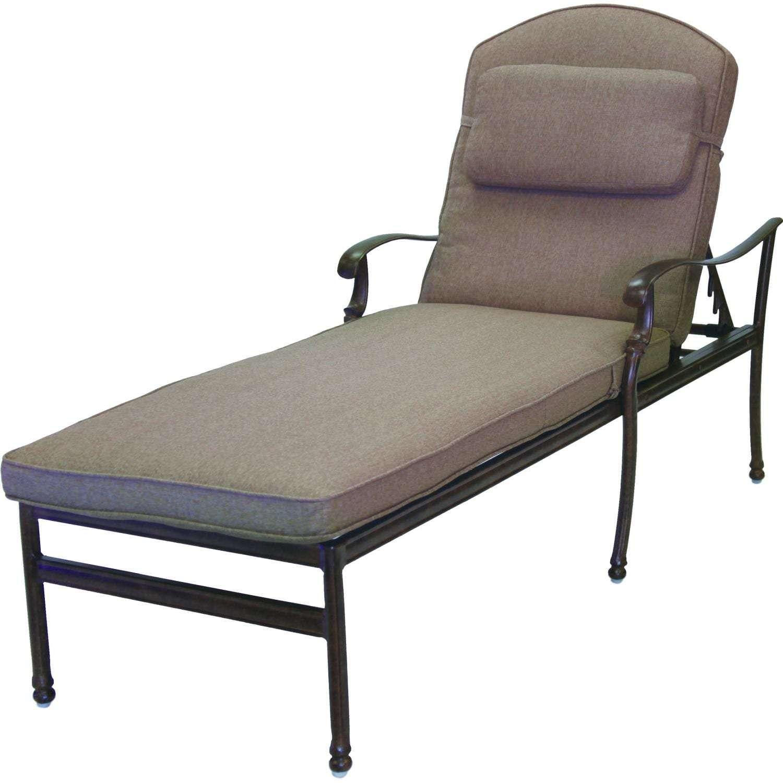 darlee florence cast aluminum patio chaise lounge antique bronze set of 2