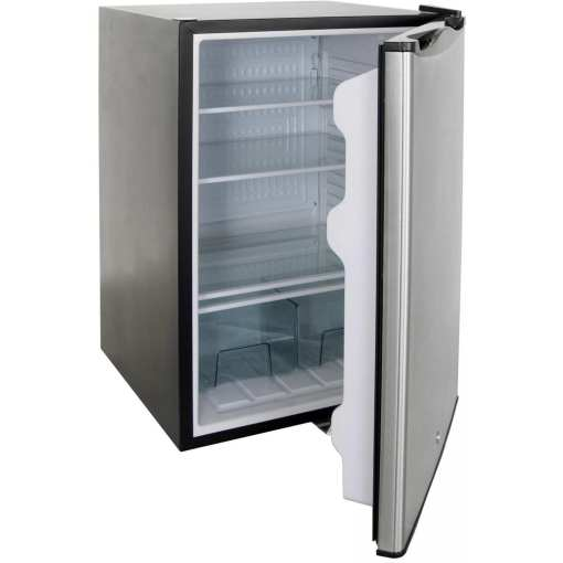 RCS 4.6 Cu. Ft. Compact Refrigerator With Recessed Handle Open View