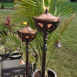 Starlite Patio Bali Bronze Patio Torches