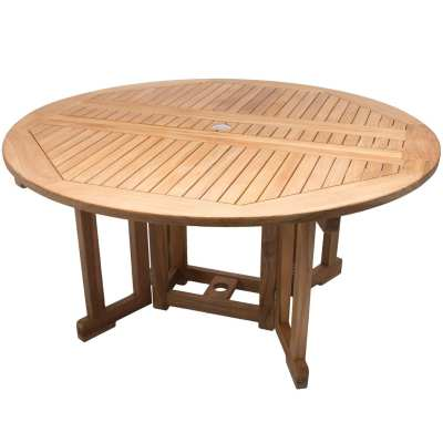 Royal Teak Collection 5-Foot Round Drop leaf Table