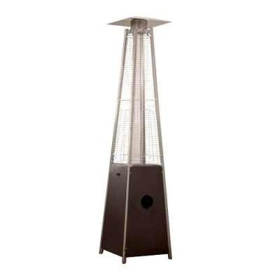 AZ Patio Heaters Hammered Bronze Glass Tube Heater