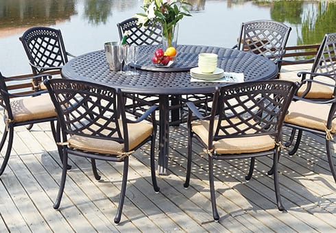 metal patio furniture at the outdoor store