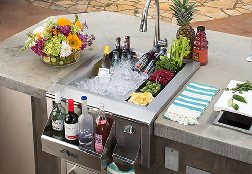 sinks and bar centers at the outdoor store