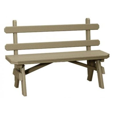 Finch Garden 66-Inch Backed Bench