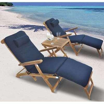 Royal Teak Collection 3-Piece Chaise Lounge Set