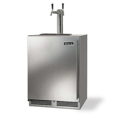 perlick 24 inch double tap beer dispenser