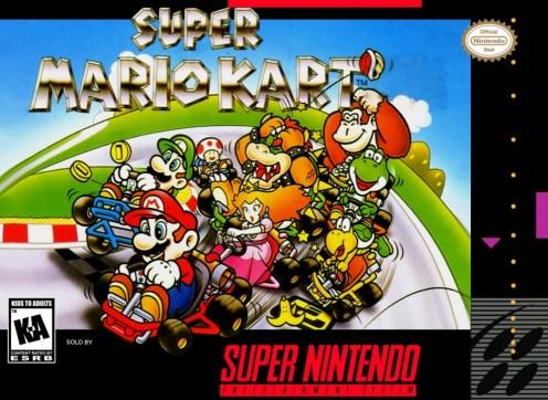 SNES Super Mario Kart box art