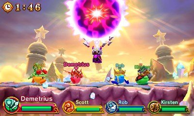 Team Kirby Clash Deluxe 4 person battle