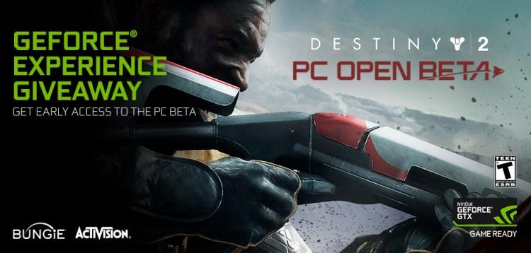 Destiny 2 Nvidia beta code giveaway
