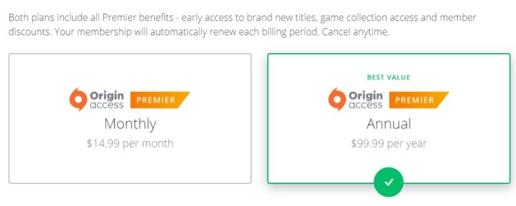 Origin Access Premier now available on PC