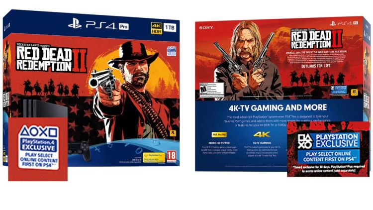 Red Dead Redemption 2 PlayStation 4 Pro Bundles
