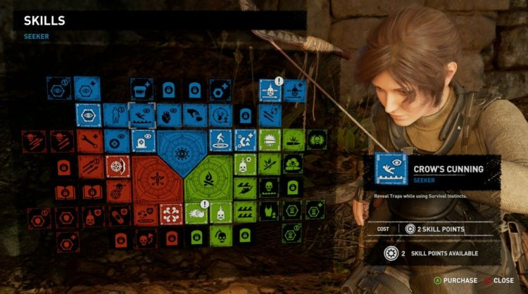 shadow of the tomb raider - hey look, the skill tree is back