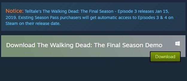 The Walking Dead The Final Season no longer on Steam