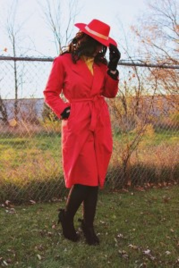 Where In The World Is Carmen Sandiego? Costume thrifted vintage secondhand hannah rupp