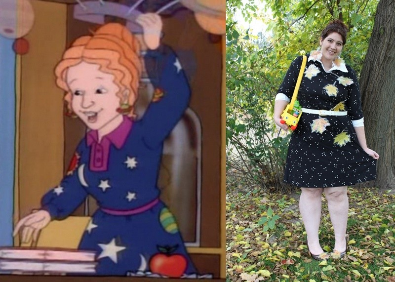 the outfit repeater hannah rupp the magic school bus liz miss frizzle halloween costume diy thrifted cosplay at home