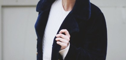 Muppet Chic: Wearing A Furry Blue Coat in Real Life