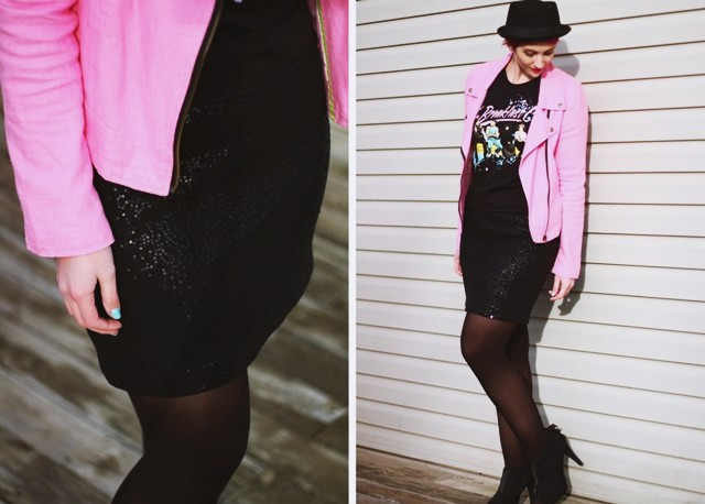 new years eve sequin outfit party skirt thrifted morning after hannah rupp 1980s breakfast club