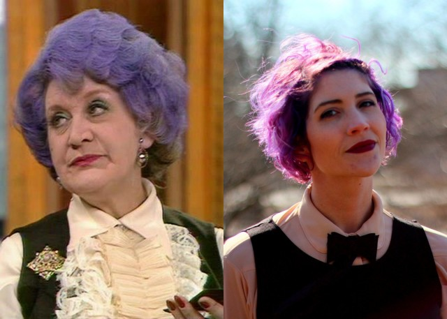 Mrs. Slocombe of Are You Being Served? look alike