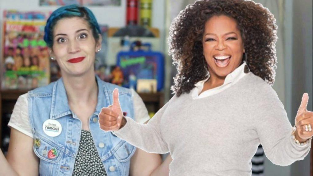 Hannah Rupp and Oprah thrift haul video