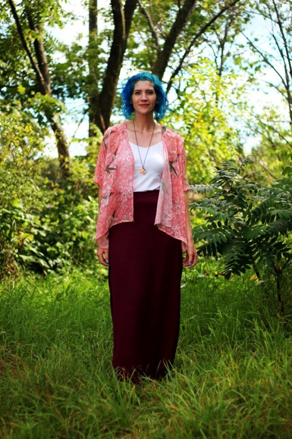 best of 2016 rewind outfit kimono summer blue hair maxi skirt the outfit repeater