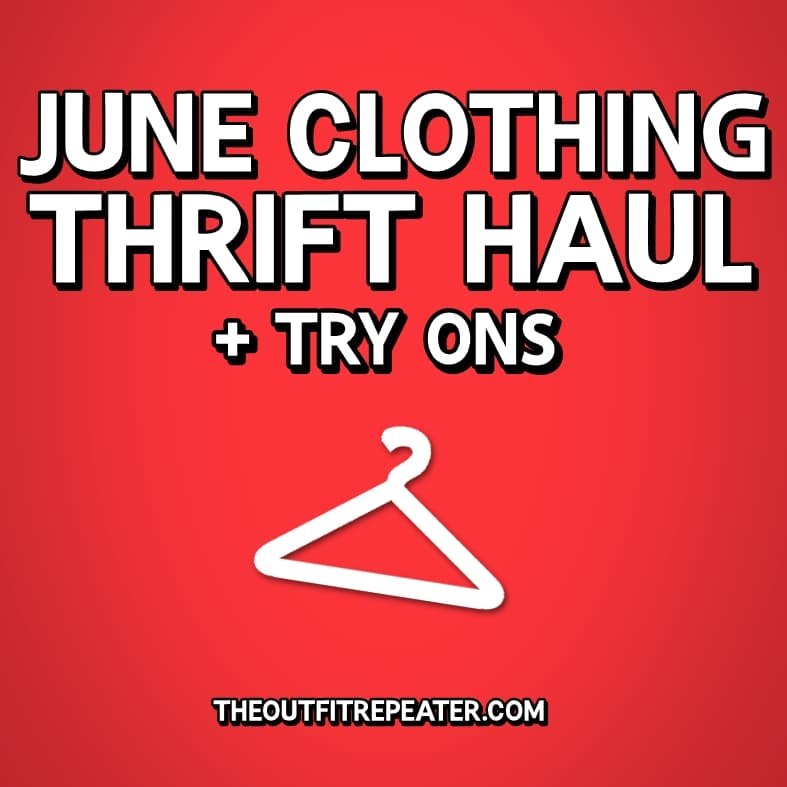 June monthly thrift haul video