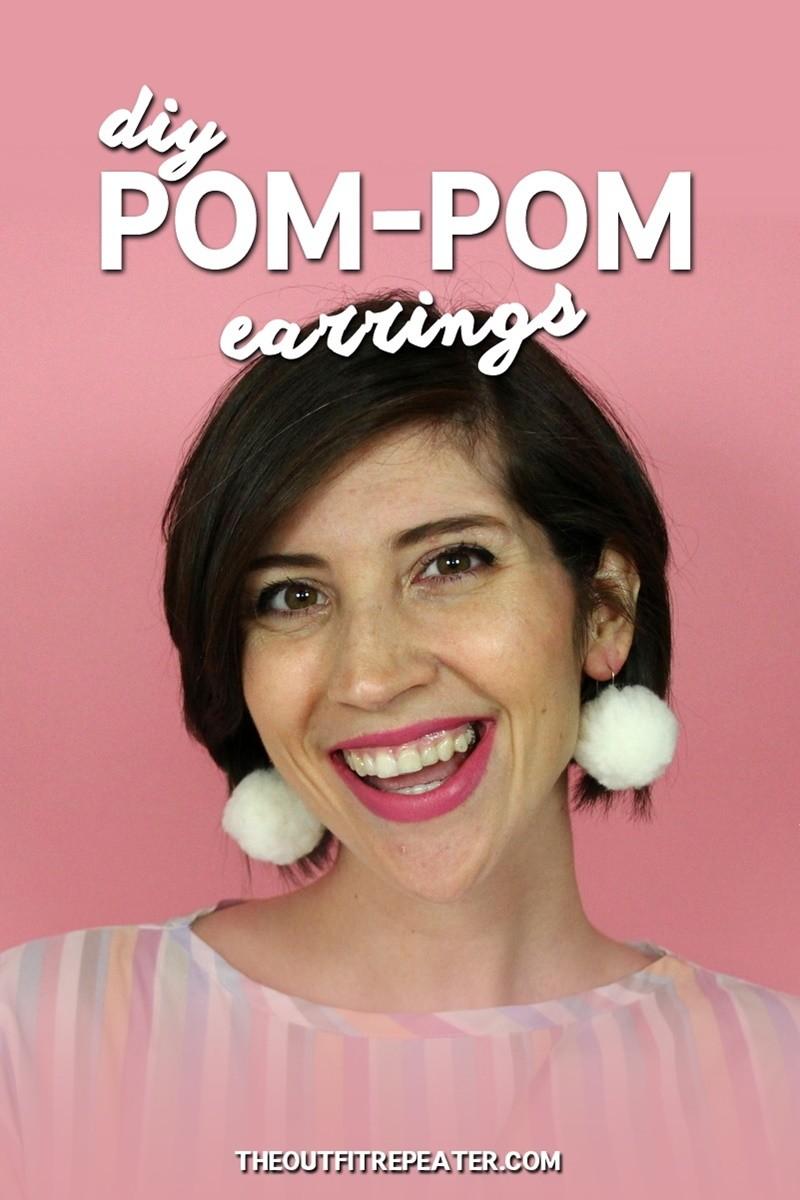 DIY Pom-pom Earrings in Under 5 Minutes!