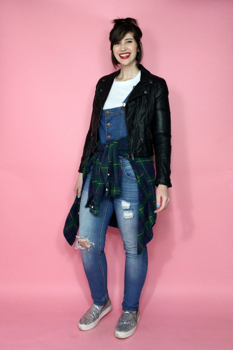 denim overalls the outfit repeater hannah rupp thrifted fashion spring