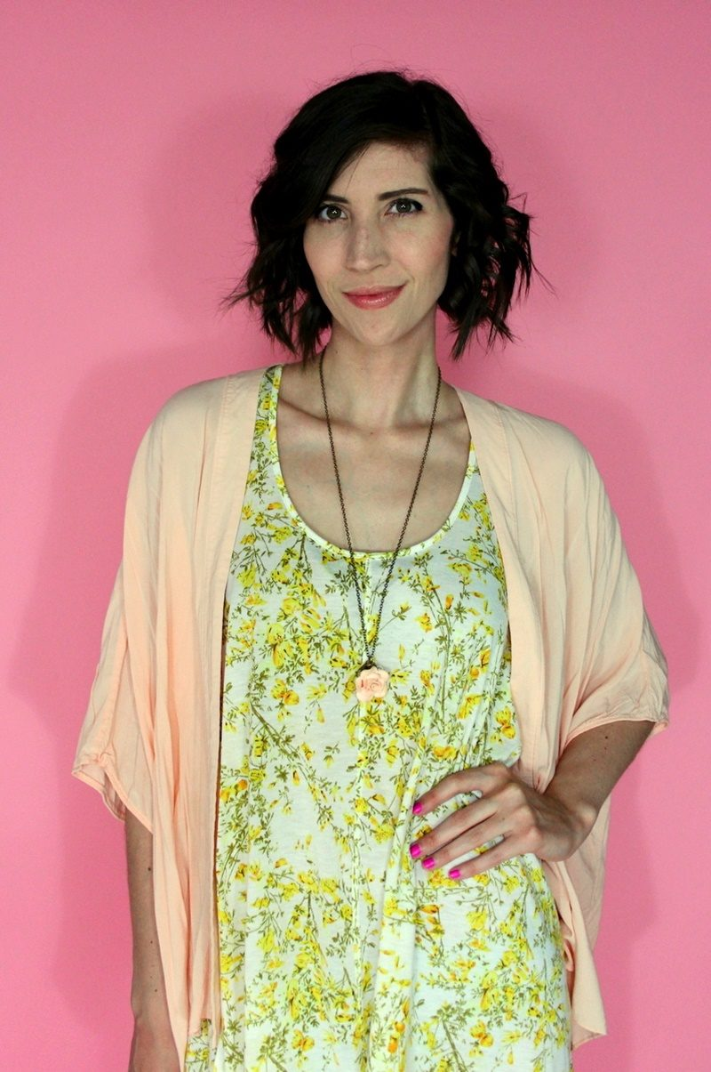 hannah rupp the outfit repeater pink summer outfit idea thrifted style