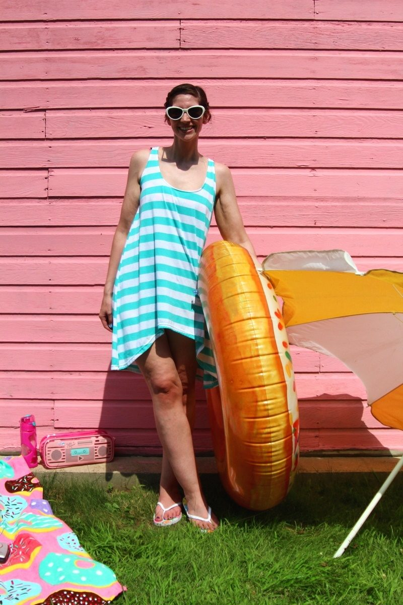 swimsuit cover up outfit the outfit repeater hannah rupp thrifted fashion style summer