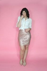 may thrift haul sequin skirt