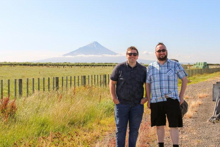 Two Lads at Mt Taranaki