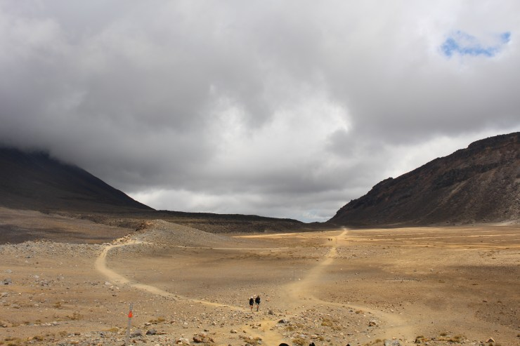 The desolate landscape of The Tongariro Crossing