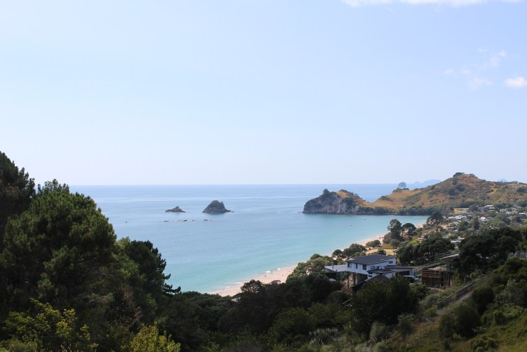 The view over Hahei Beach, Cathedral Cove Walk