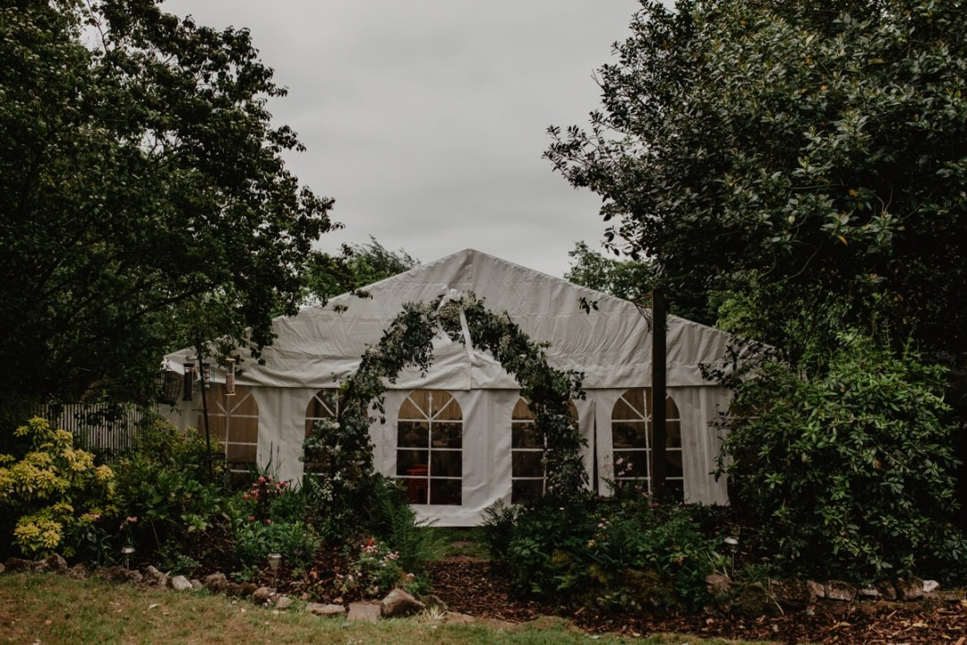 Rheannie and Samuel DIY Garden Wedding - marquee