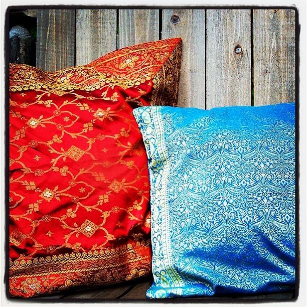 Indian Sari Cushion Covers Review & Giveaway! Ends 08/09