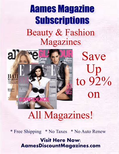 Aames Discount Magazine Subscriptions