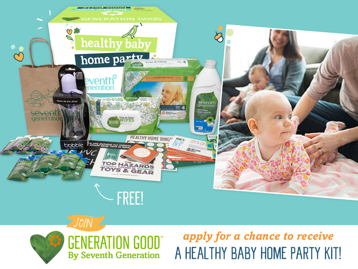 Healthy Baby Home Parties with Seventh Generation