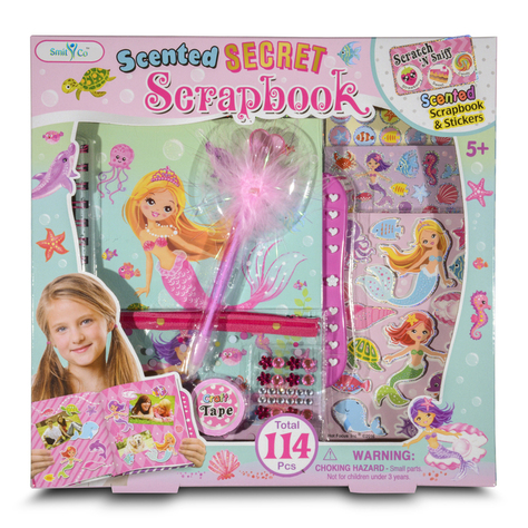 scrapbook mermaid diary dress up little girl princess france paris emoji emojis writing secrets stickers feather pen glitter fun sweet gifts shopping