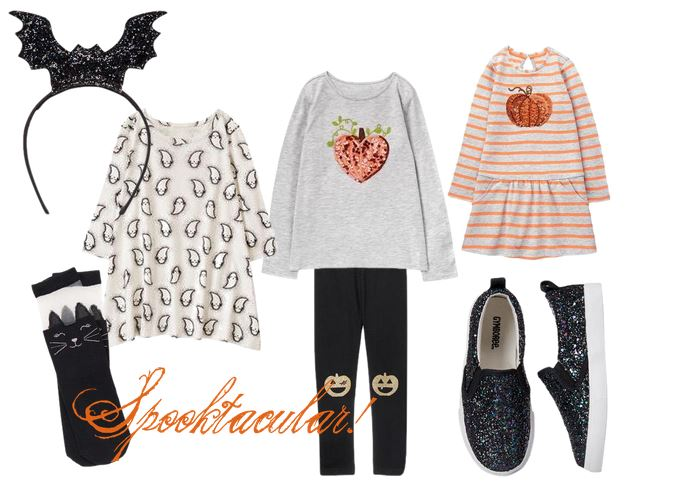 gymboree Halloween clothes kids girls shopping cute pumpkins jackolantern bats cats kitten ears headbands shoes socks leggings sequins glitter ghosts spooky new buy stripes