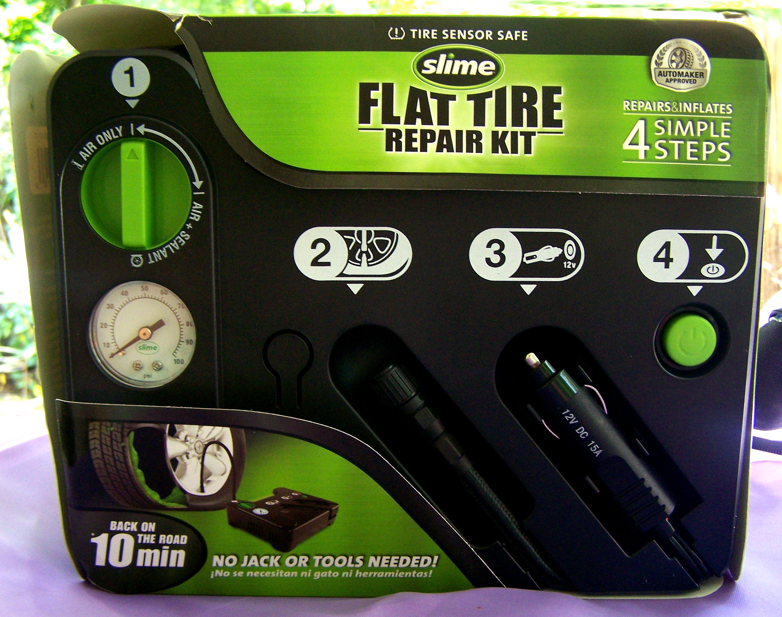 Slime flat tire repair kit giveaway win sweepstakes safety car cars car repair flat tire fix air digital edition high value kids back to school trucks morotcycles teen drivers driving safe gifts gift